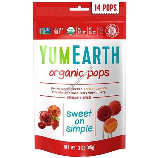 Organic Pops 85g (14 Lollipops) - YumEarth