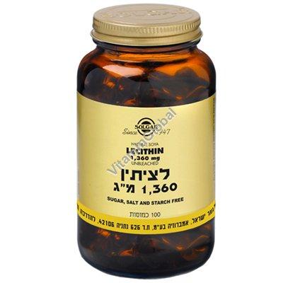 Lecithin 1360 mg 100 caps - Solgar