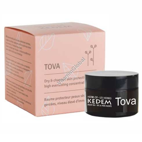 Protective Balm Tova for Dry & Chapped Skin 15 ml - Herbs of Kedem
