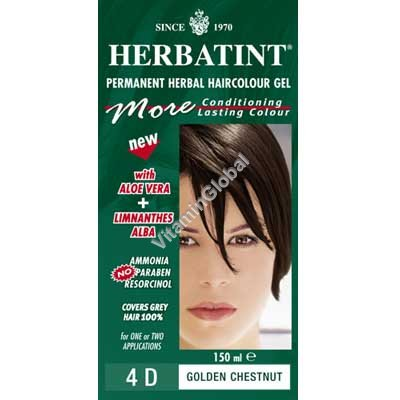 Permanent Haircolour 4D Golden Chestnut - Herbatint