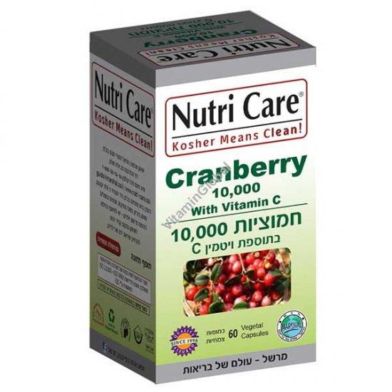 Kosher Badatz Cranberry Extract with Vitamin C 60 capsules - Nutri Care