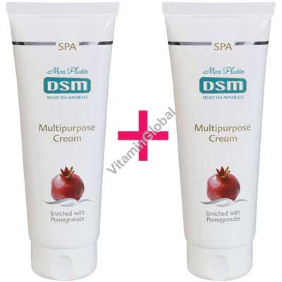 Multipurpose Cream enriched with Pomegranate 500 (8.5+8.5 fl. oz.) - Mon Platin Dead Sea Minerals
