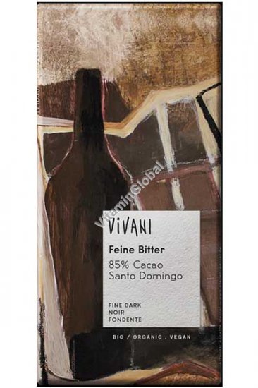 Organic Dark Chocolate 85% Cocoa 100g - Vivani