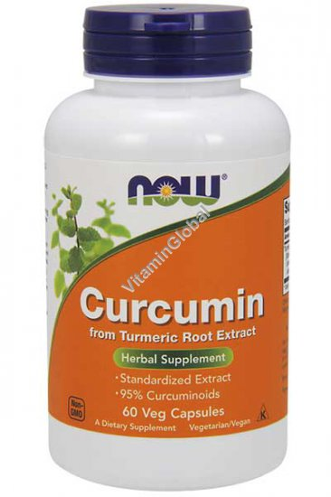 Curcumin from Turmeric Root Extract 60 Veg Capsules - Now Foods