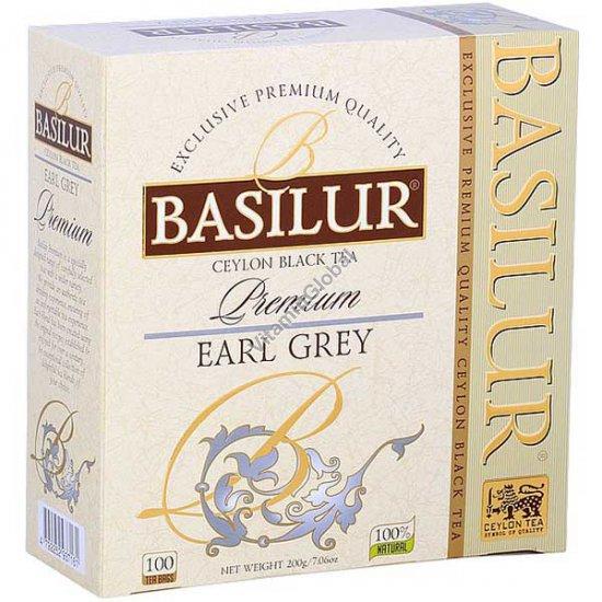 Ceylon Premium Black Earl Grey Tea 100 tea bags - Basilur
