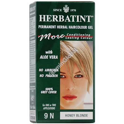 Permanent Herbal Haircolour Gel Honey Blonde 9N - Herbatint