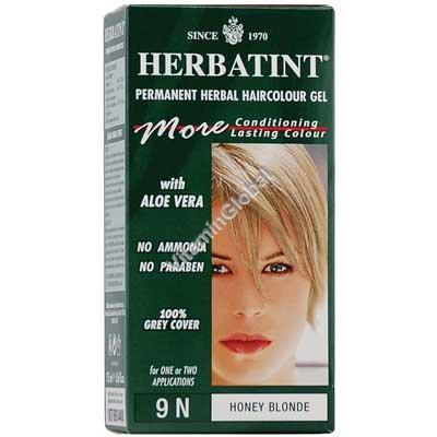 Permanent Herbal Haircolor Gel Honey Blonde 9N - Herbatint