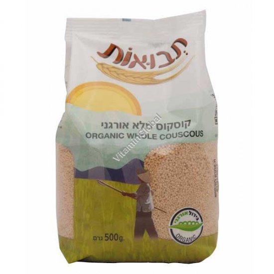 Organic Whole Couscous 500g - Tvuot