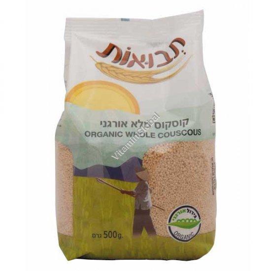 Organic Whole Couscous 500g - Tvuot