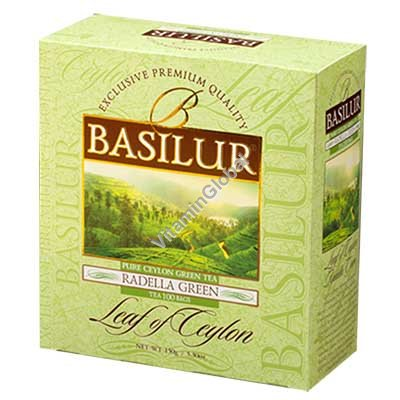 Pure Ceylon Green Tea Radella 100 tea bags - Basilur