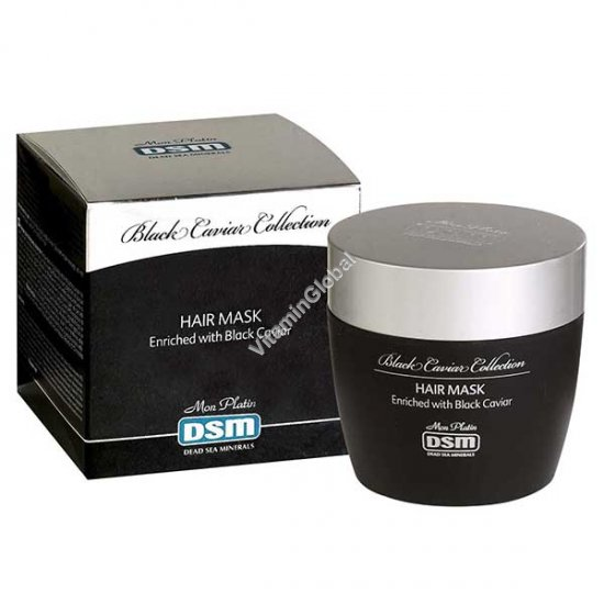 Black Caviar Hair Mask for rehabilitating damaged and colored hair 250ml (8.5 fl. oz) - Mon Platin