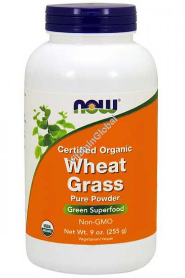 Organic Wheat Grass Powder 255g (9 oz) - Now Foods