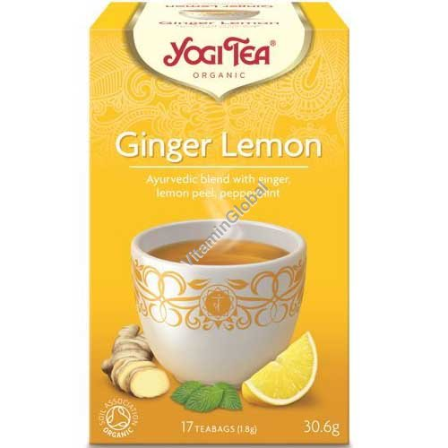 Organic Ginger Lemon Tea 17 teabags - Yogi Tea