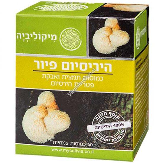 Hericium Pure - Hericium Mushroom Extract & Powder 60 veggie capsules - Mycolivia