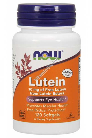 Lutein 10 mg 120 Softgels - NOW Foods