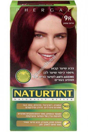 Permanent Hair Color 9R Fire Red - Naturtint