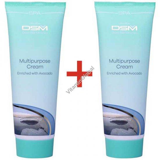 Multipurpose Cream enriched with Avocado 500 (8.5+8.5 fl. oz.) - Mon Platin Dead Sea Minerals