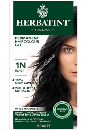Permanent Hair Color Black 1N - Herbatint