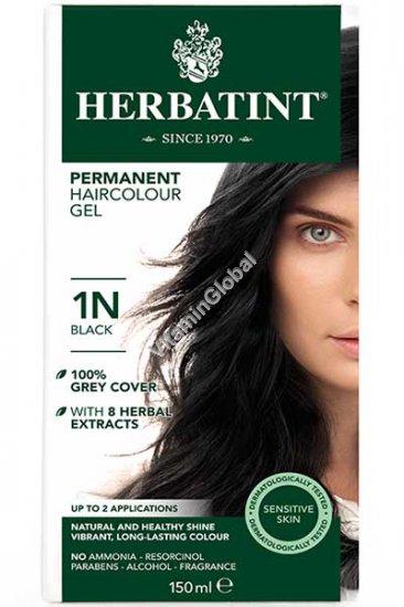 Permanent Hair Color Black 1N - Herbatint