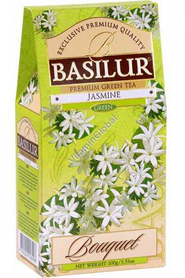 Premium Pure Ceylon Jasmine Green Tea 100g (3.53 oz) - Basilur