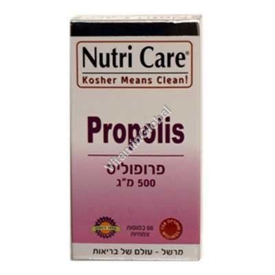 Kosher L\'Mehadrin Propolis 500 mg 60 caps - Nutri Care
