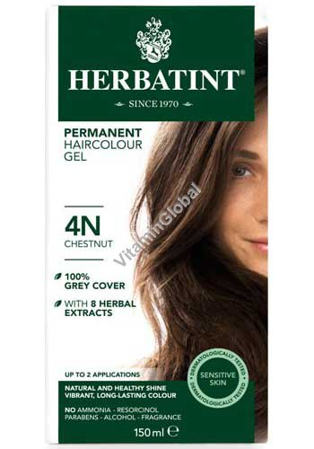 Permanent Haircolour Gel Chestnut 4N - Herbatint