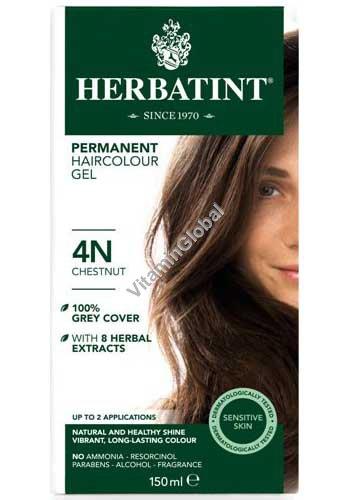 Permanent Haircolour Gel Chestnut 4N - Herbatint