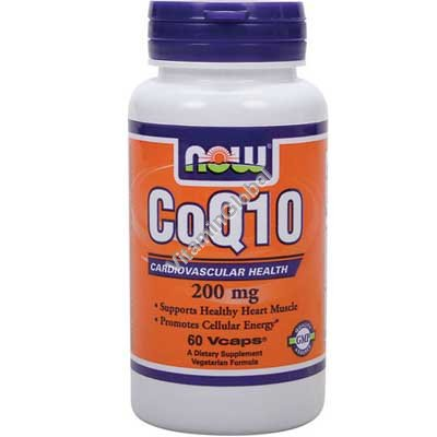 Coenzyme Q10 200 mg 60 Vcaps - NOW Foods