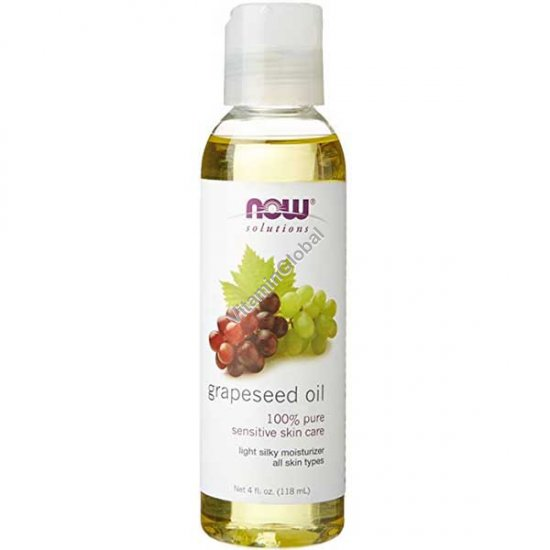 Pure Grapeseed Oil 118ml (4 fl oz) - Now Solutions
