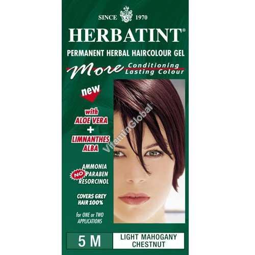 Permanent Haircolor Gel 5M Light Mahogany Chestnut - Herbatint