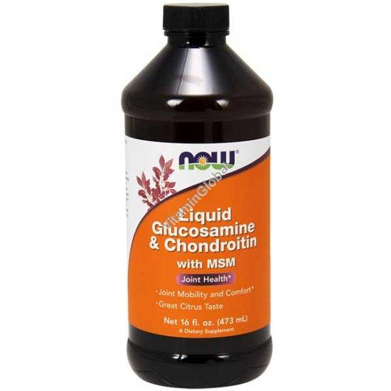 Liquid Glucosamine & Chondroitin + MSM 473ml - NOW Foods