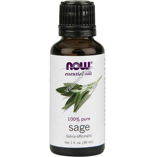 Sage Oil (Salvia Officinalis) 30ml (1 fl oz) - Now Essential Oils