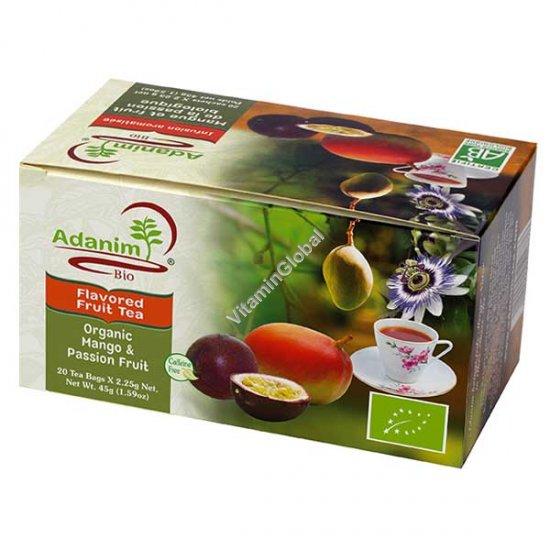 Organic Mango & Passion Fruit Tea 20 Tea Bags - Adanim
