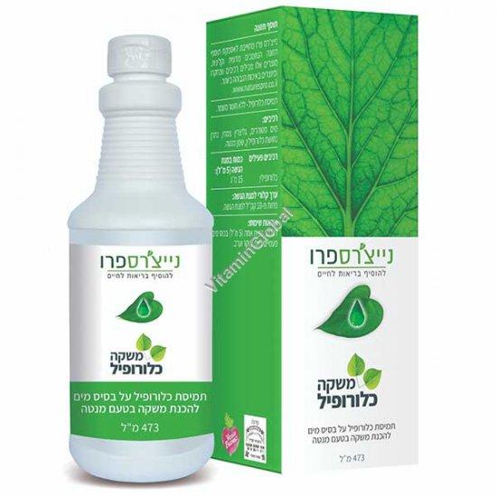 Kosher Badatz Liquid Chlorophyll 500 ml (16 OZ) - Nature\'s Pro