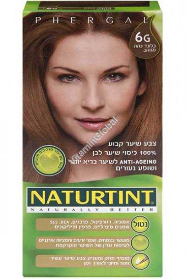 Permanent Hair Color 6G Dark Golden Blonde - Naturtint