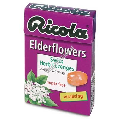 Sugar Free Elderflowers Lozenges 50g - Ricola