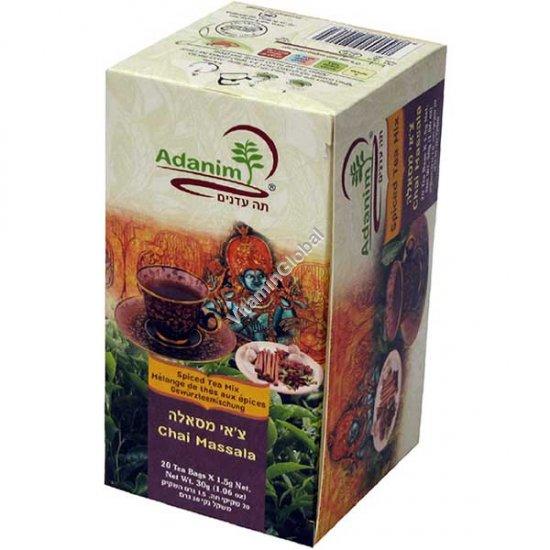 Organic Chai Massala 20 Tea Bags - Adanim