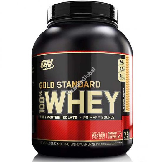 Gold Standard - 100% Whey Protein Strawberry Banana 2.270g - Optimum Nutrition
