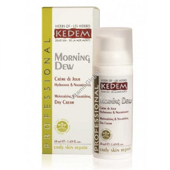 Morning Dew - Moisturizing & Nourishing Day Cream 50ml (1.69 fl. oz) - Herbs of Kedem
