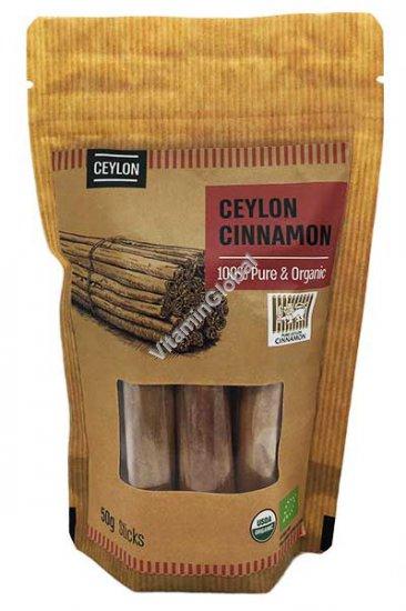 Organic & Pure Ceylon Cinnamon Sticks 50g - Naturafood