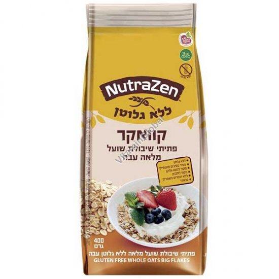 Gluten Free Whole Roll Oats Flakes 400g - NutraZen