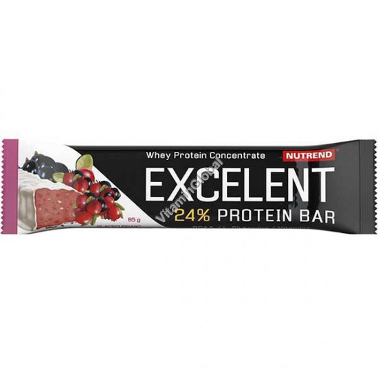 Excelent Protein Bar Blackcurrant Flavour and Cranberries with Yogurt Coating 85g - Nutrend