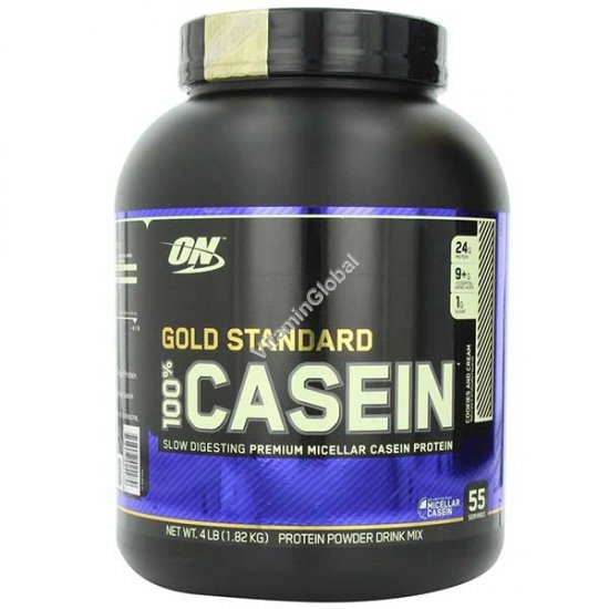 Gold Standard - 100% Casein Protein Cookies and Cream 1.82kg - Optimum Nutrition
