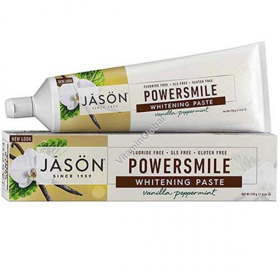 PowerSmile - Whitening Vanilla Peppermint Toothpaste 170g (6 oz) - Jason