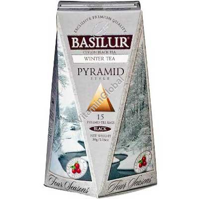 "Pure Ceylon Black Tea ""Winter Tea"" 15 pyramid tea bags - Basilur"