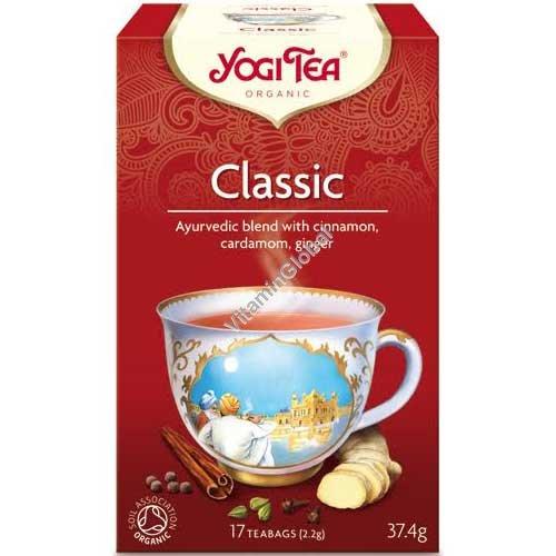 Organic Ayurvedic Infusion - Classic with cinnamon, cardamom, ginger 17 teabags - Yogi Tea
