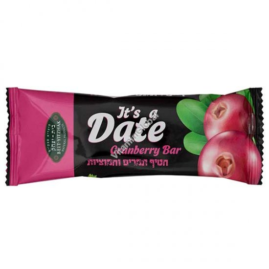 Nutrition Date & Cranberry Bar 40g - Beit Yizhak