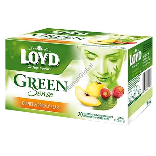 Green Tea with Quince and Prickly Pear 20 tea bags - Loyd