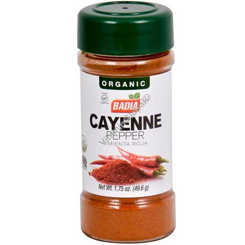 Organic Gluten Free Cayenne Pepper 49.6g - Badia