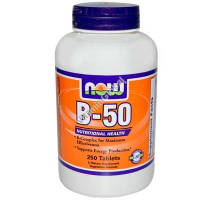 B-50 Complex 250 tabs - NOW Foods